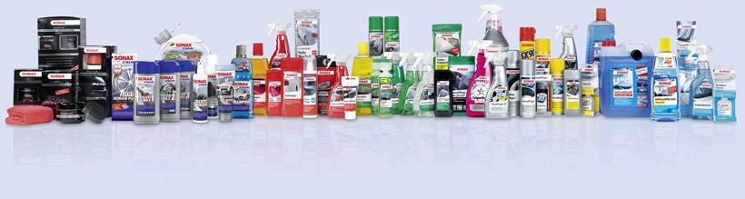 Die SONAX Produktpalette